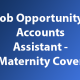 Accounts Assistant - Maternity Cover